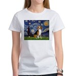 Starry Night & Beagle Women's T-Shirt