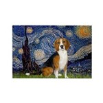 Starry Night & Beagle Rectangle Magnet