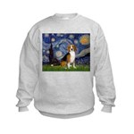 Starry Night & Beagle Kids Sweatshirt