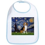 Starry Night & Beagle Bib