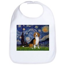 Starry Night & Beagle Bib