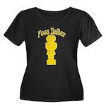 Foos Baller Women's Plus Size Scoop Neck Dark T-Sh