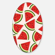 Watermelon Pattern Flip Flops Sticker (Oval)