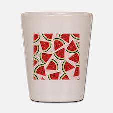 Watermelon Pattern Flip Flops Shot Glass