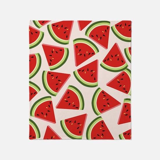 Watermelon Pattern Flip Flops Throw Blanket