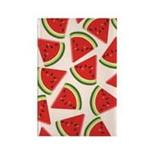 Watermelon Pattern Flip Flops Rectangle Magnet