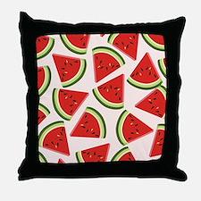 Watermelon Pattern Flip Flops Throw Pillow