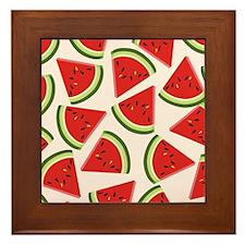 Watermelon Pattern Flip Flops Framed Tile