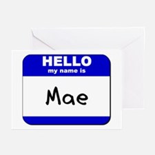 hello my name is mae  Greeting Cards (Pk of 10