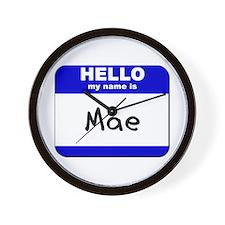 hello my name is mae  Wall Clock