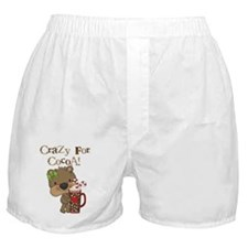 Girl Bear Crazy For Cocoa Boxer Shorts