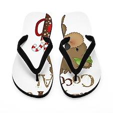 Girl Bear Crazy For Cocoa Flip Flops