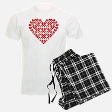 Red HEART of hearts Pajamas