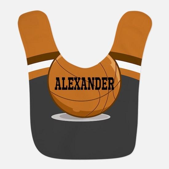 Stylish Custom Basketball Theme Bib