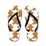 Gingerbread man Flip Flops