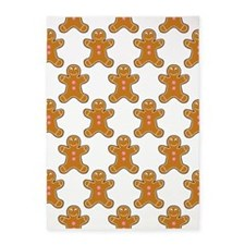 'Gingerbread Men' 5'x7'Area Rug