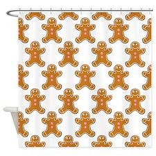 'Gingerbread Men' Shower Curtain