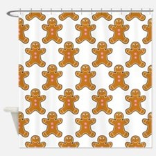 'Gingerbread Men' Shower Curtain