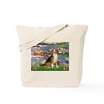 Lilies (#2) - Beagle #7 Tote Bag
