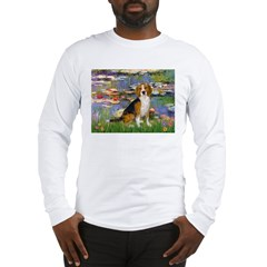 Lilies (#2) - Beagle #7 Long Sleeve T-Shirt