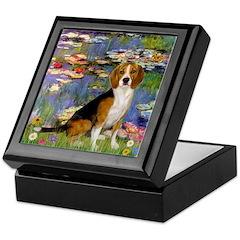Lilies (#2) - Beagle #7 Keepsake Box