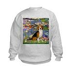 Lilies (#2) - Beagle #7 Kids Sweatshirt