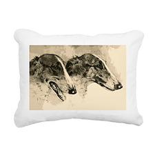 Two Borzoi Rectangular Canvas Pillow