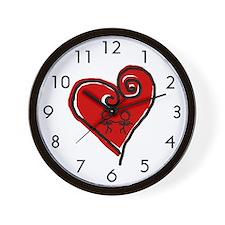 Loving Heart Wall Clock