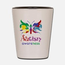 Autism Awareness Butterfly Shot Glass