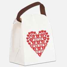 Red HEART of hearts Canvas Lunch Bag
