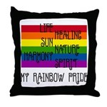 My Rainbow Pride Throw Pillow