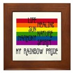 My Rainbow Pride Framed Tile