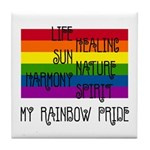 My Rainbow Pride Tile Coaster