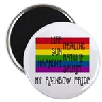 "My Rainbow Pride 2.25"" Magnet (10 pack)"
