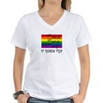 My Rainbow Pride Women's V-Neck T-Shirt