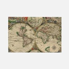 Antique Old World Map Rectangle Magnet