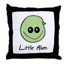 Little Alien Throw Pillow