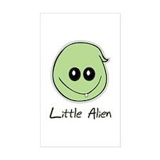 Little Alien Rectangle Decal