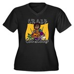 Crazy Cat Lady [Black] Women's Plus Size V-Neck Da