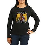 Crazy Cat Lady [Black] Women's Long Sleeve Dark T-