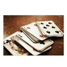 Rustic deck of cards Postcards (Package of 8)