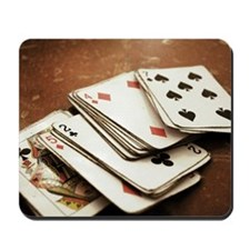 Rustic deck of cards Mousepad