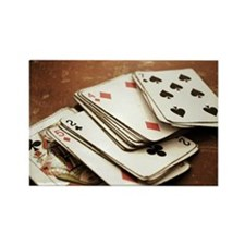 Rustic deck of cards Rectangle Magnet