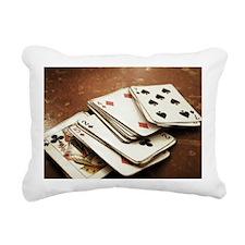 Rustic deck of cards Rectangular Canvas Pillow