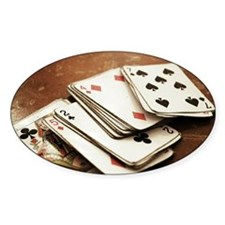 Rustic deck of cards Decal