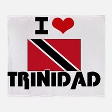 I HEART TRINIDAD FLAG Throw Blanket