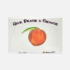 Give Peach a Chance Rectangle Magnet