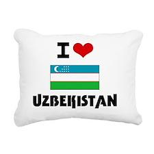 I HEART UZBEKISTAN FLAG Rectangular Canvas Pillow