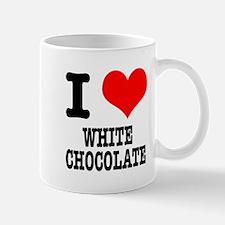 I Heart (Love) White Chocolate Mug