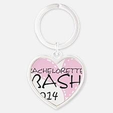 Pink Bachelorette Bash 2014 Heart Keychain